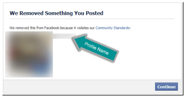 Business Facebook Profiles Removed