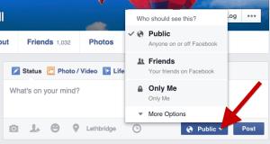 Facebook Post Audience Settings - individual post
