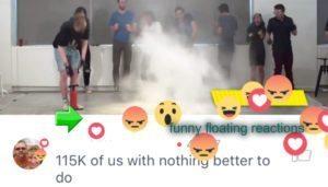 Facebook Live Floating Reaction Emojis