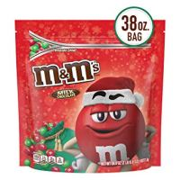 M&M'S Milk Chocolate Red and Green Christmas Candy, Great for Holiday Baking, 38 oz.
