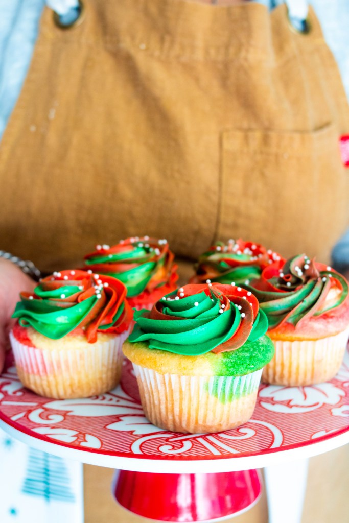 Gluten Free Christmas Sponge Cupcake