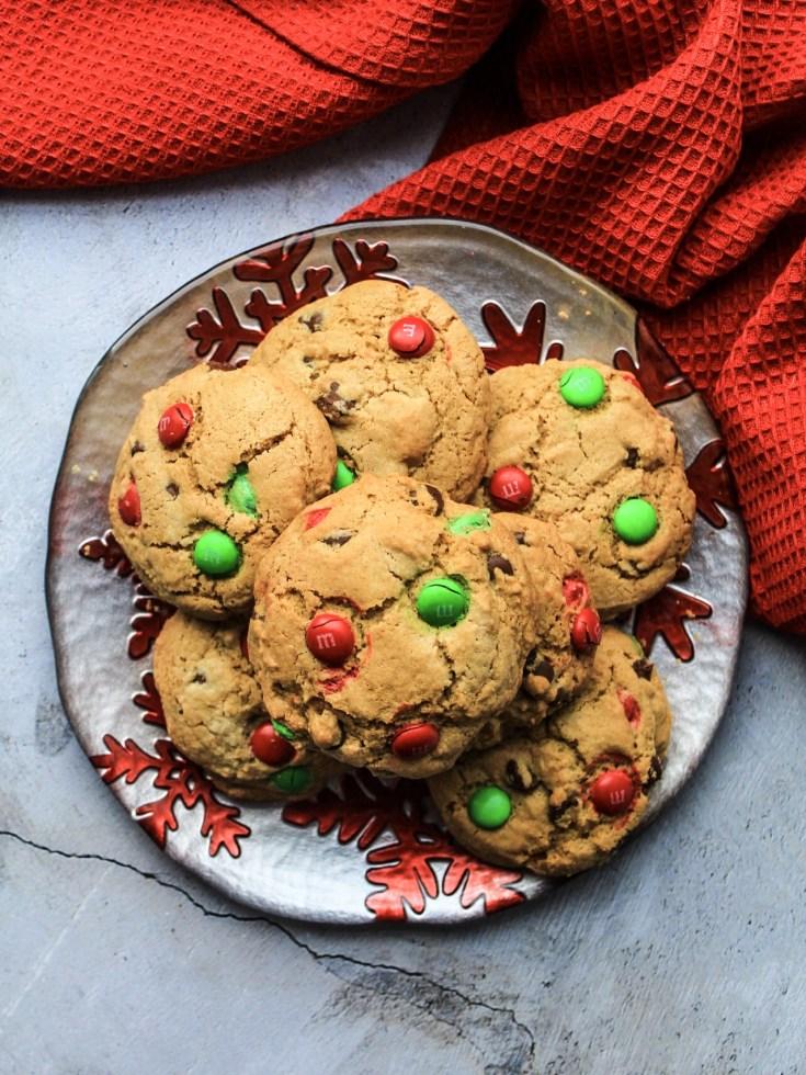 M&M Chocolate Chip Cookies