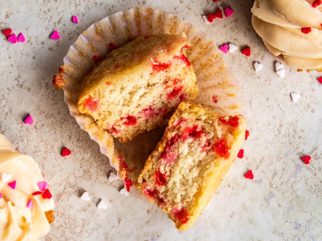 Valentine's Day prosecco cupcakes