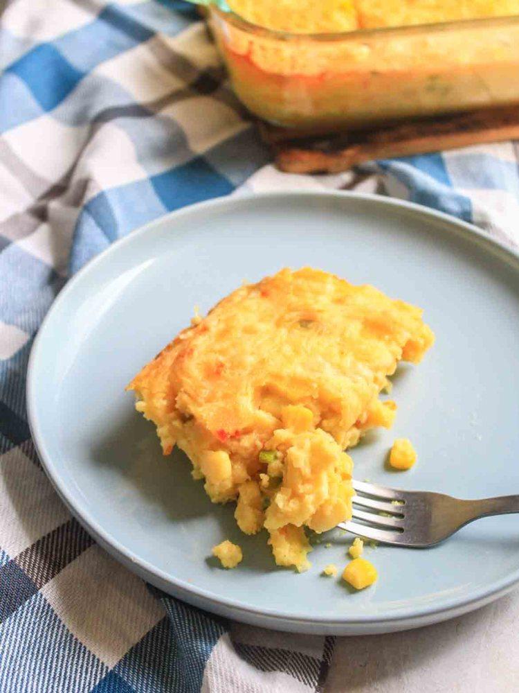 Trinidad Corn Pie Slice