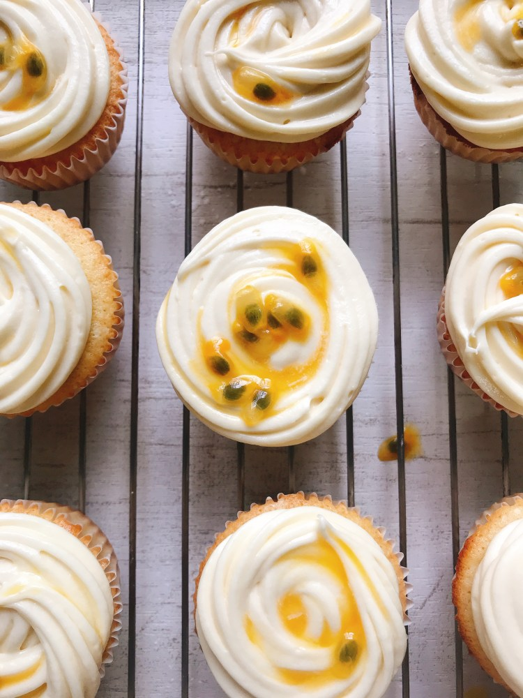 Gluten Free Passion Fruit Cupcakes