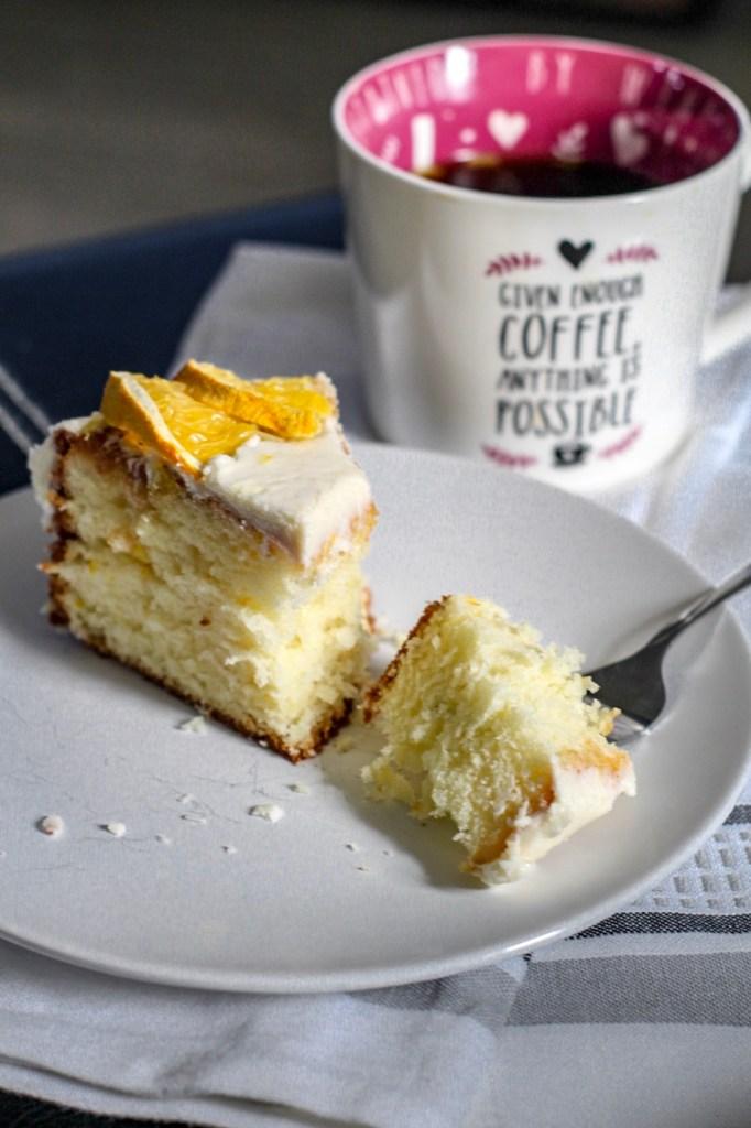 Gluten Free sponge cake slice