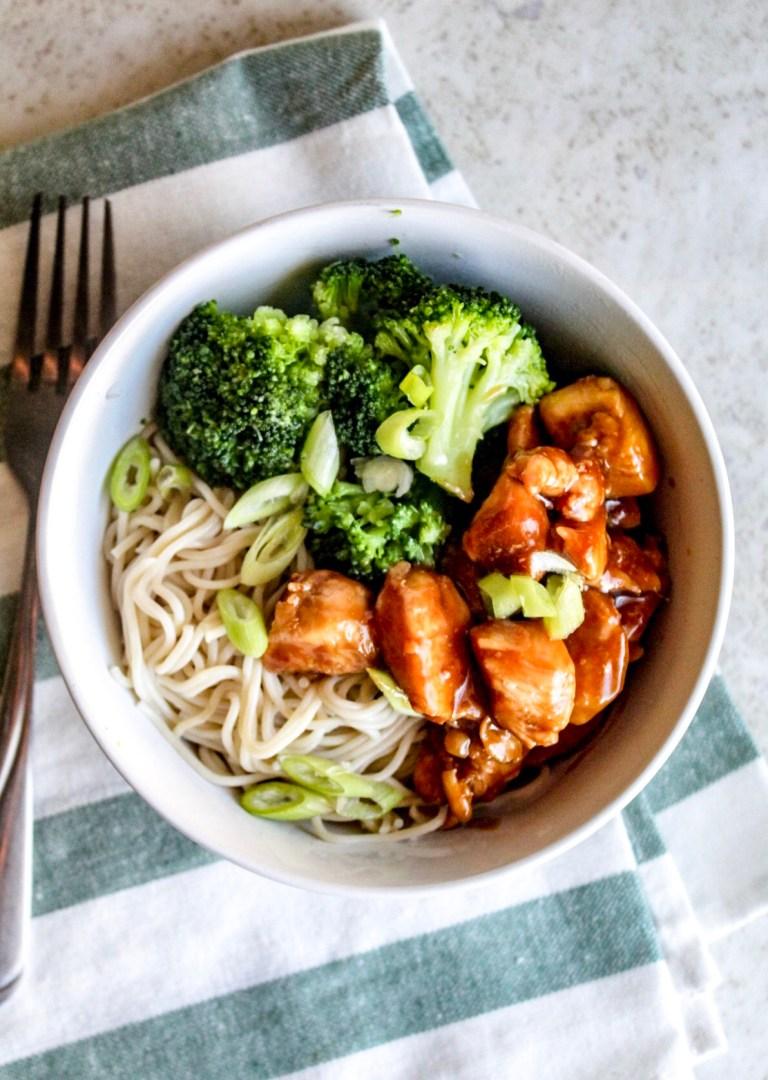 teriyaki chicken with gluten free ramen noodles