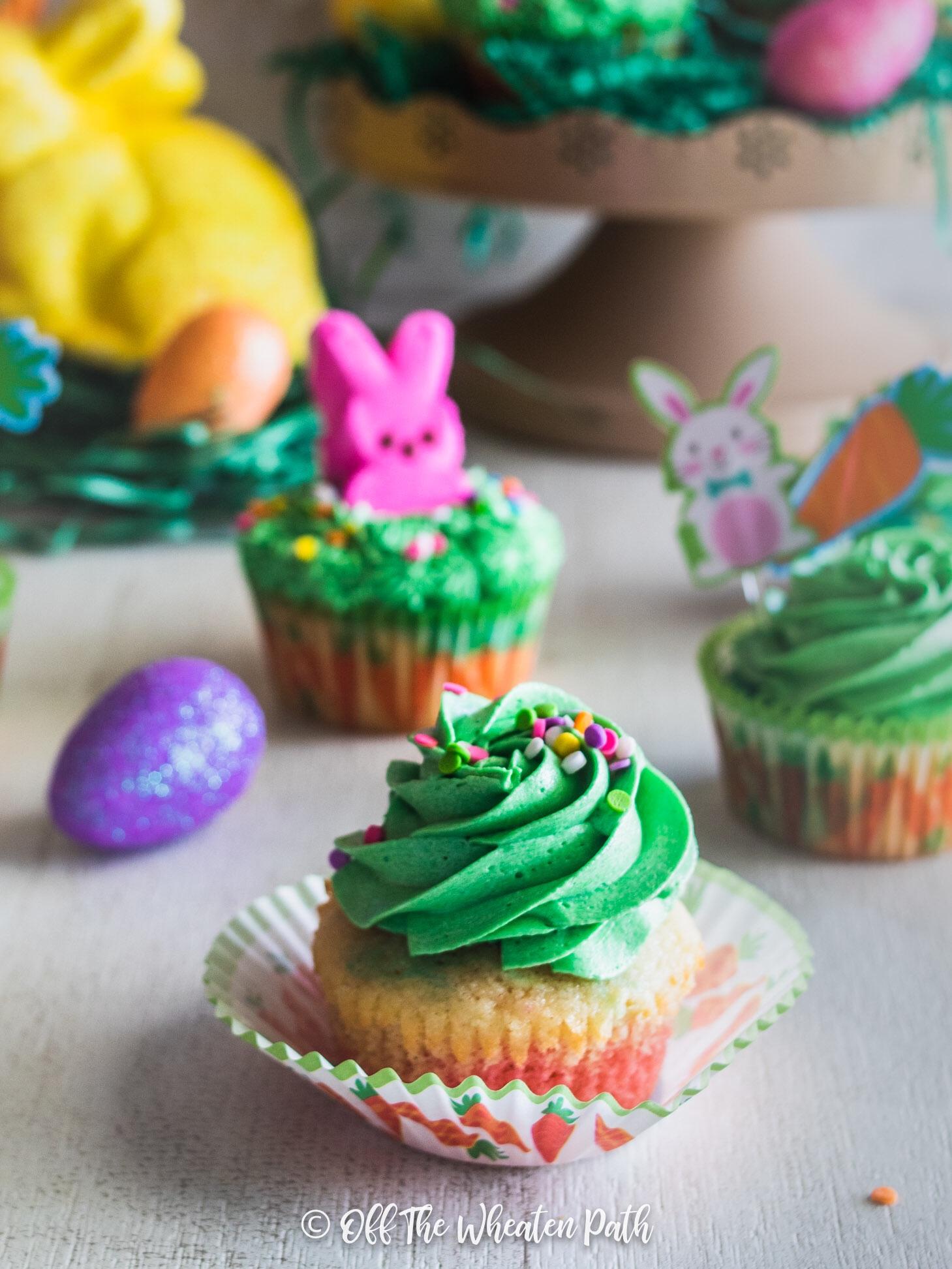 Simple Marble cupcake decoration