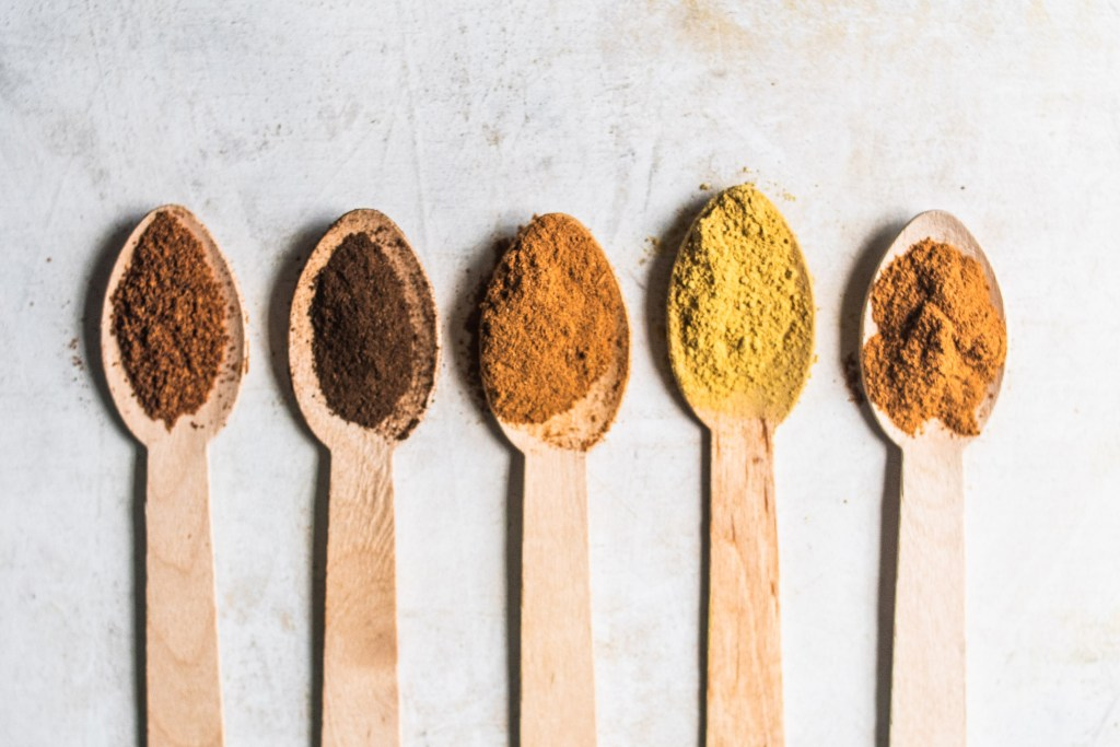 Spices for Pumpkin Spice in Spoons