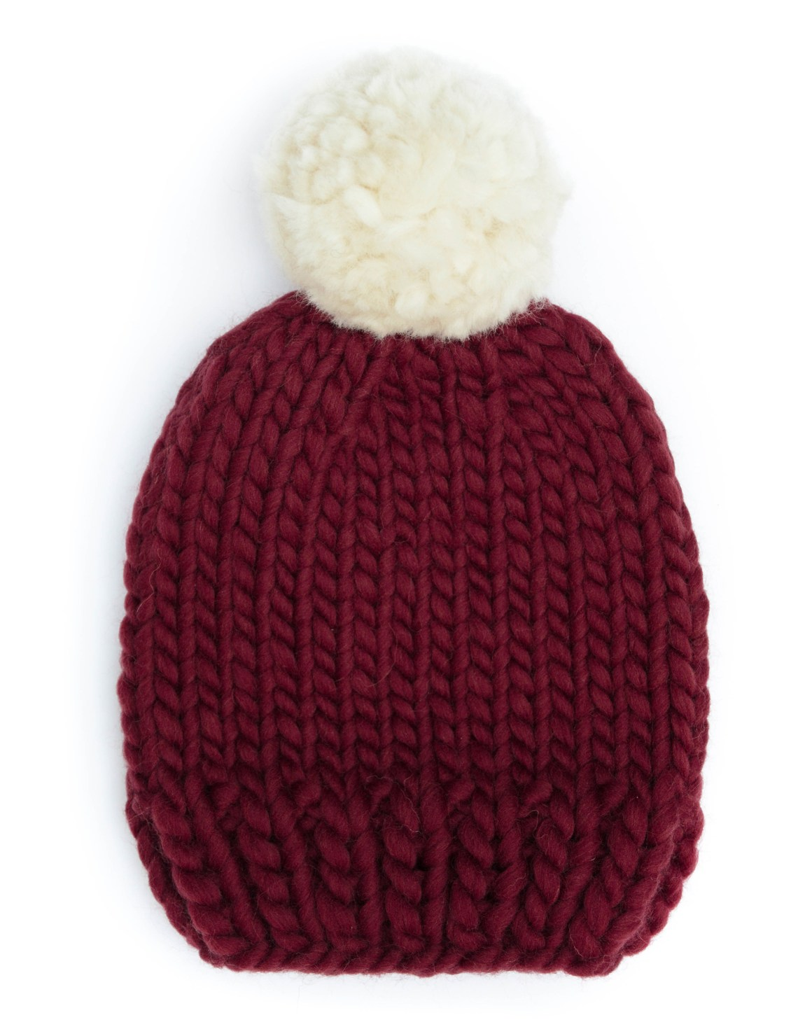 off_the_wool_handmade_knitted_bobble_hat_pompom_maroon_ivory