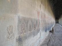 Impressions along the walls.