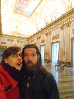 with my prince azzurro in the royal palace