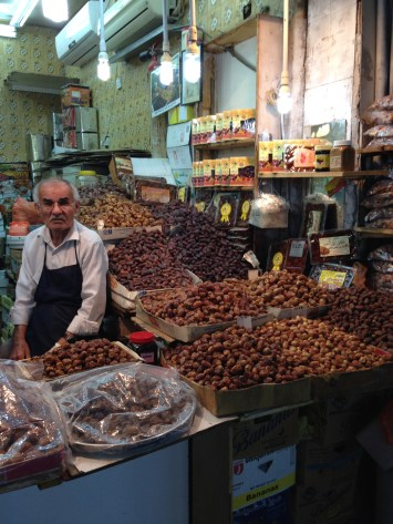 A vendor of dates at the old market