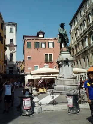 One of the piazzas in Venice.