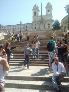 The stairs of the Piazza di Spagna.