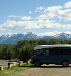 astro van camper conversion north bc mountains view [ 2048 x 1519 Pixel ]