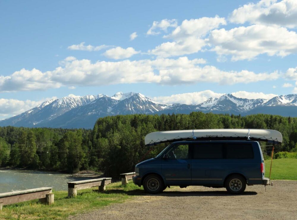 hight resolution of astro van camper conversion north bc mountains view