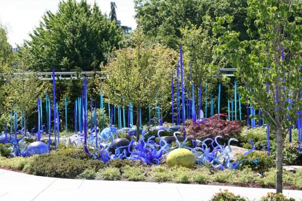 Glass Garden Art Sculptures