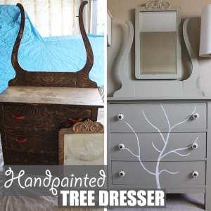 Handpainted Tree Dresser