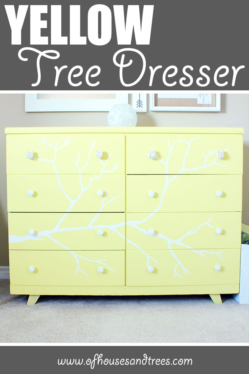 Yellow Tree Dresser | I have a thing for trees. And also tree dressers. Here's another tree dresser project I tackled. I think it looks pretty good if I say so myself!