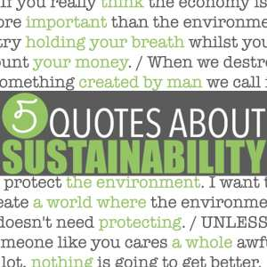 Sustainability Quotes by Of Houses and Trees | Five sustainability quotes superimposed over images of mountains, forests and a child hugging a very large tree. Cheesy? Perhaps. True? Hell yes.