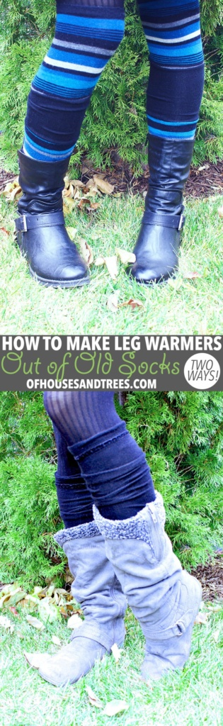 DIY Leg Warmers   Leg warmers aren't just for dancers. They keep the legs toasty and also look kind of cute, no? Here are two ways to make DIY leg warmers out of old socks!