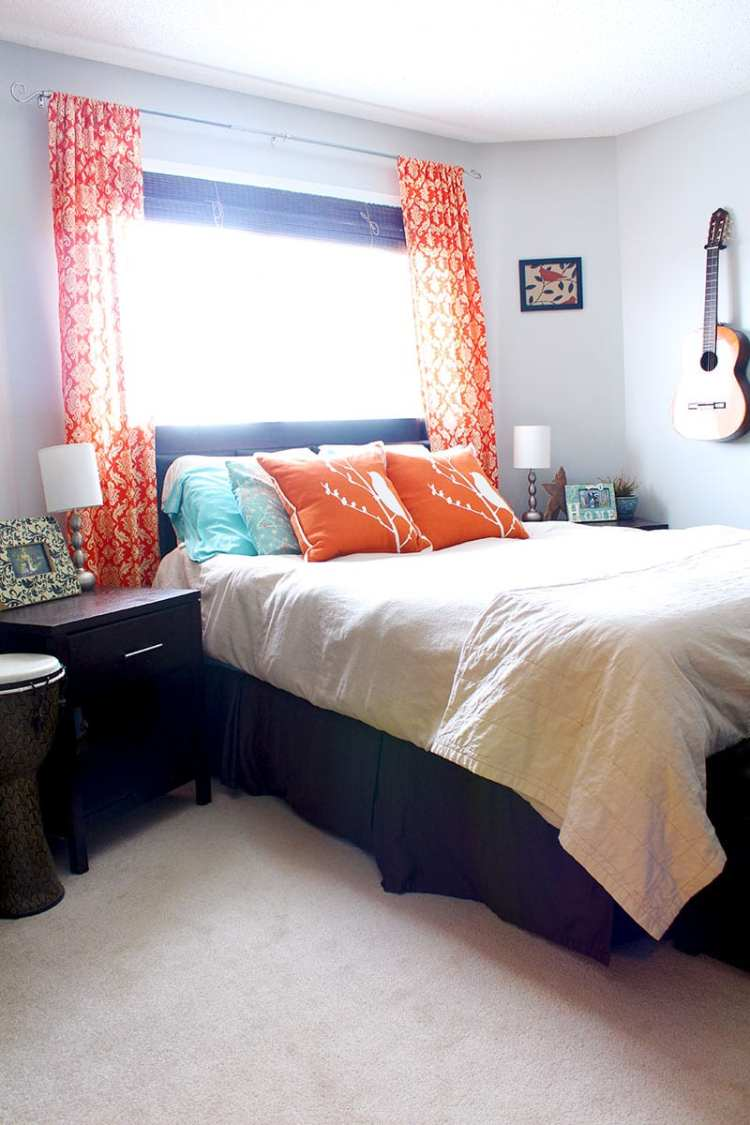 Blue And Orange Bedroom Blue And Orange Master Bedroom By Of Houses And Trees