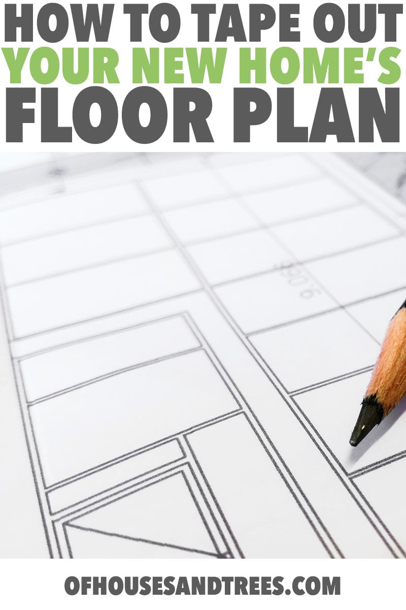 Laying Out a Floor Plan   Designing a house? What you see on paper and what you see in real life can be very different, which is why laying out a floor plan with tape is important.