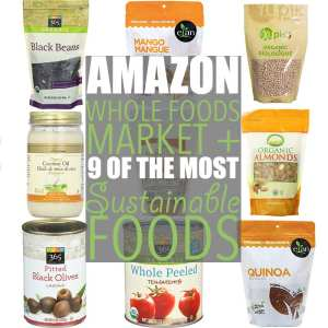 Most Sustainable Foods by Of Houses and Trees | Amazon and Whole Foods recently announced a partnership that includes the increased availability of products - including some of the most sustainable foods.
