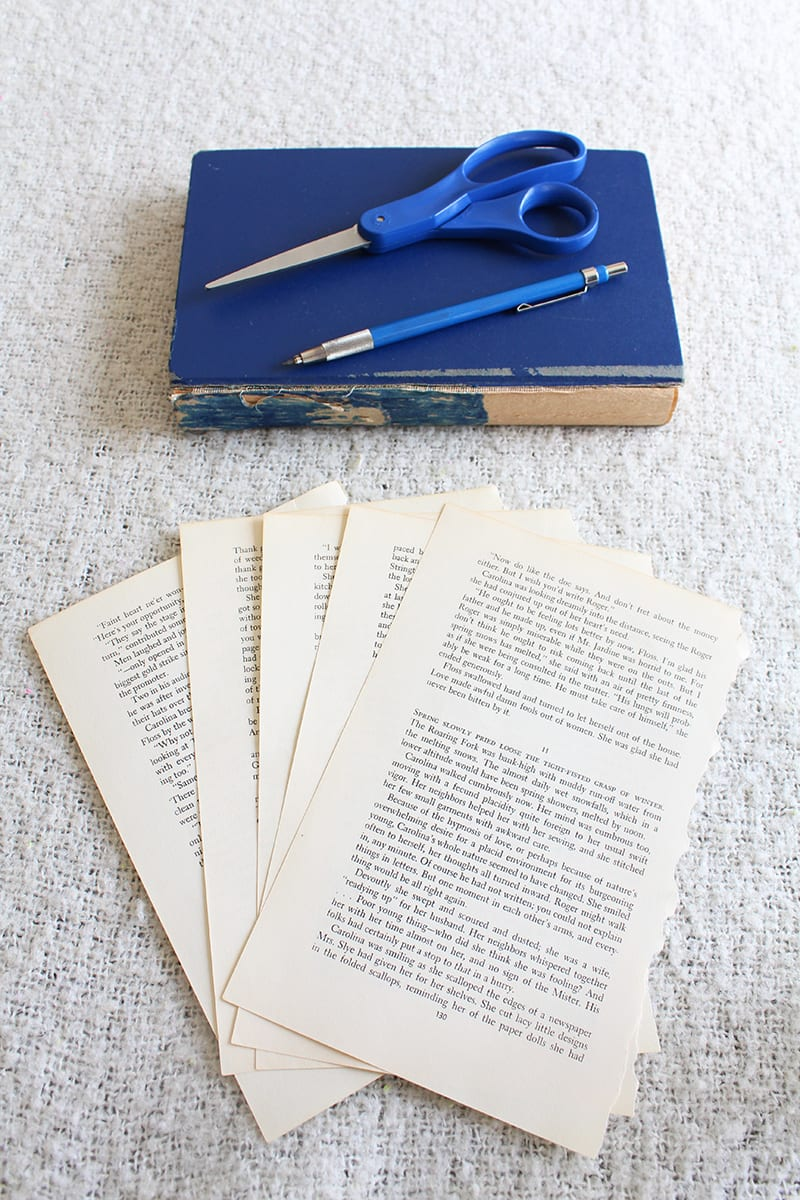 How to make a paper orb from old book pages. Step 1: Choose which pages of the book you want to use. Note that they don't have to be pages that are printed on both sides as the back side won't be showing. Gently pull or cut the pages out.