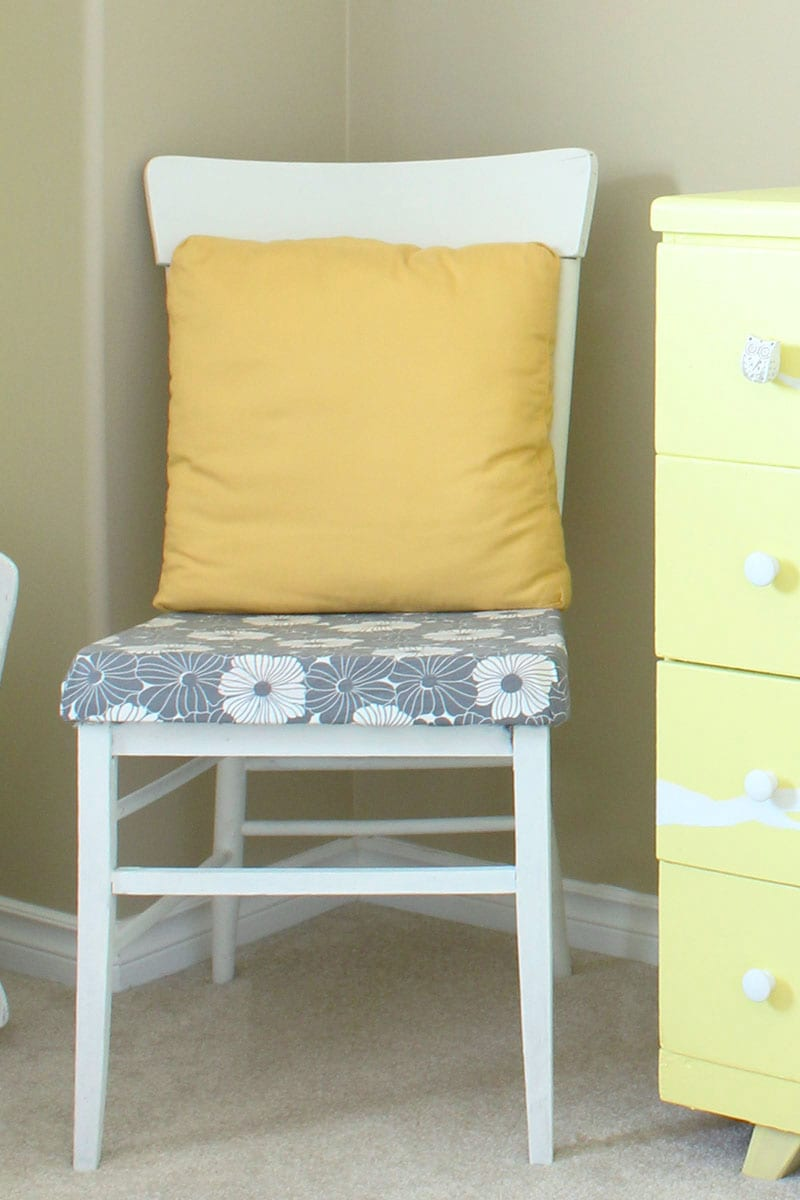 If you're looking for eco-friendly DIY projects, try this antique chair with a modern vibe. Reusing secondhand furniture in your decor is one of the best ways to green your home. Plus, a piece of refinished furniture you designed yourself makes any space perfectly you - and gives you a great story to tell when friends and family come visit!