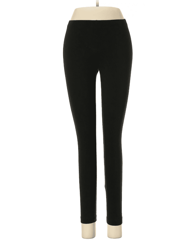 Create customized second hand Halloween costumes with items you can add to your regular wardrobe and wear again! Like these black leggings, which would be perfect for an elf costume.