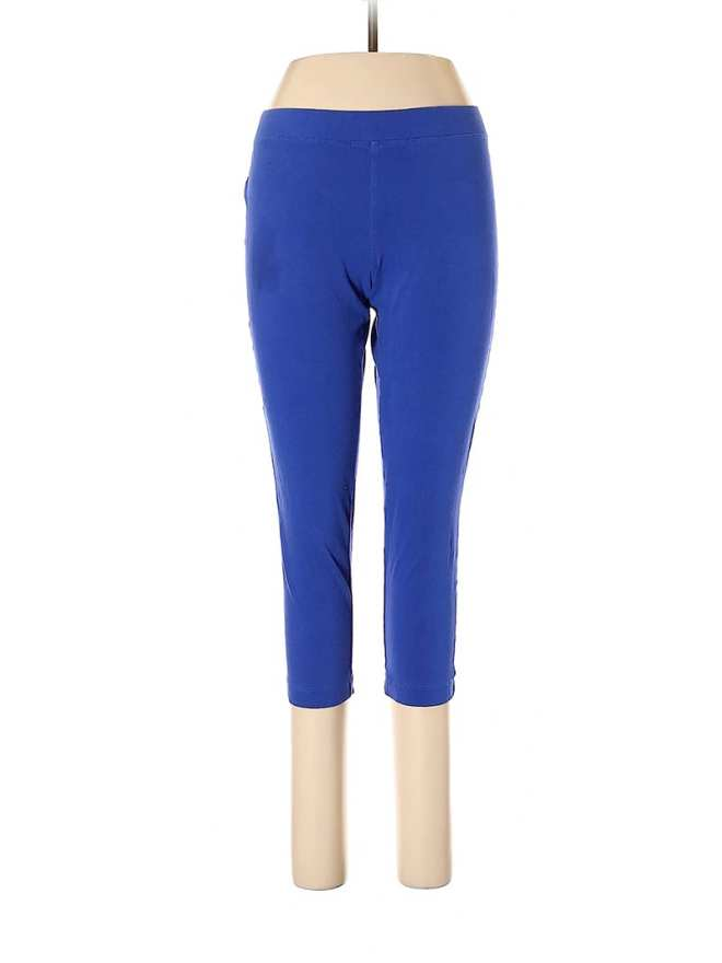 Create customized second hand Halloween costumes with items you can add to your regular wardrobe and wear again! Like these blue leggings, which would be perfect for a superhero costume.