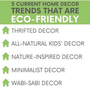 Home decor trends may come and go, but there's one trend that better not be going anywhere and that's eco-friendly home decor!