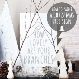 How To Paint a Christmas Tree Sign