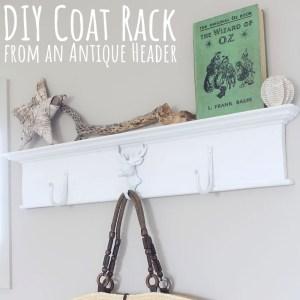 DIY Coat Rack from an Antique Header