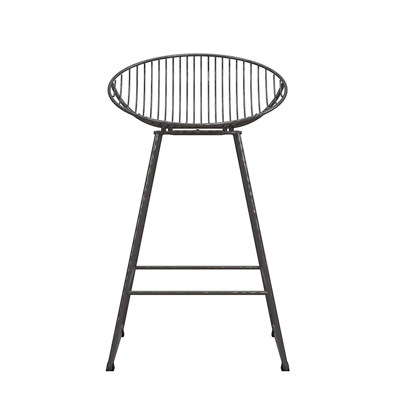 """Welcome to the next entry in my """"Green This Look"""" series, featuring a rustic industrial style kitchen filled with très cool and earth-friendly finishes! Like bar stools made from durable, recyclable steel."""