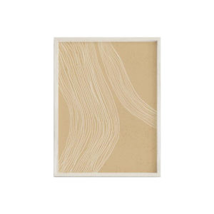 Creating a space that helps you feel peaceful and productive is the key to work-at-home success. And home office decor items like this abstract line print will do just that!