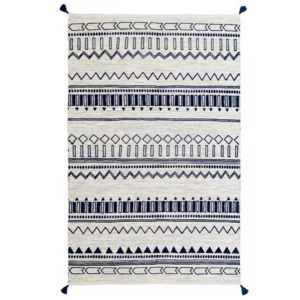 Creating a space that helps you feel peaceful and productive is the key to work-at-home success. And home office decor items like this tribal-inspired area rug will do just that!