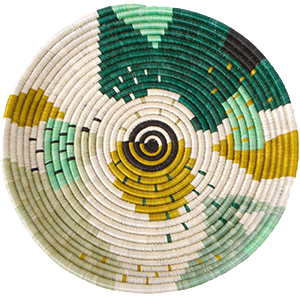 Whether your decor style is Boho, Coastal - even Minimalist - there's a set of woven basket wall decor out there with your name on it! And you can start with this colourful green and yellow wall basket from ethical brand KAZI.