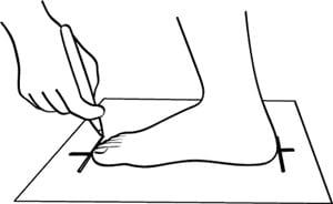 Medir pie talla china