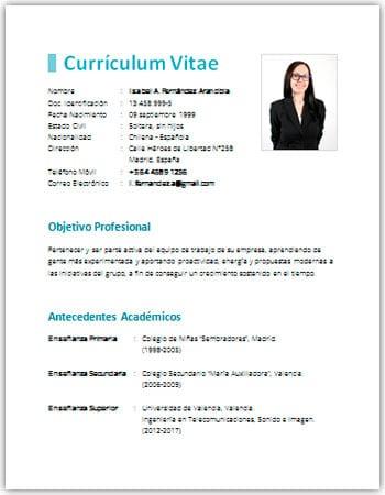 Curriculum Vitae Sencillo Xn Transportowy Wiat 9hd Pl