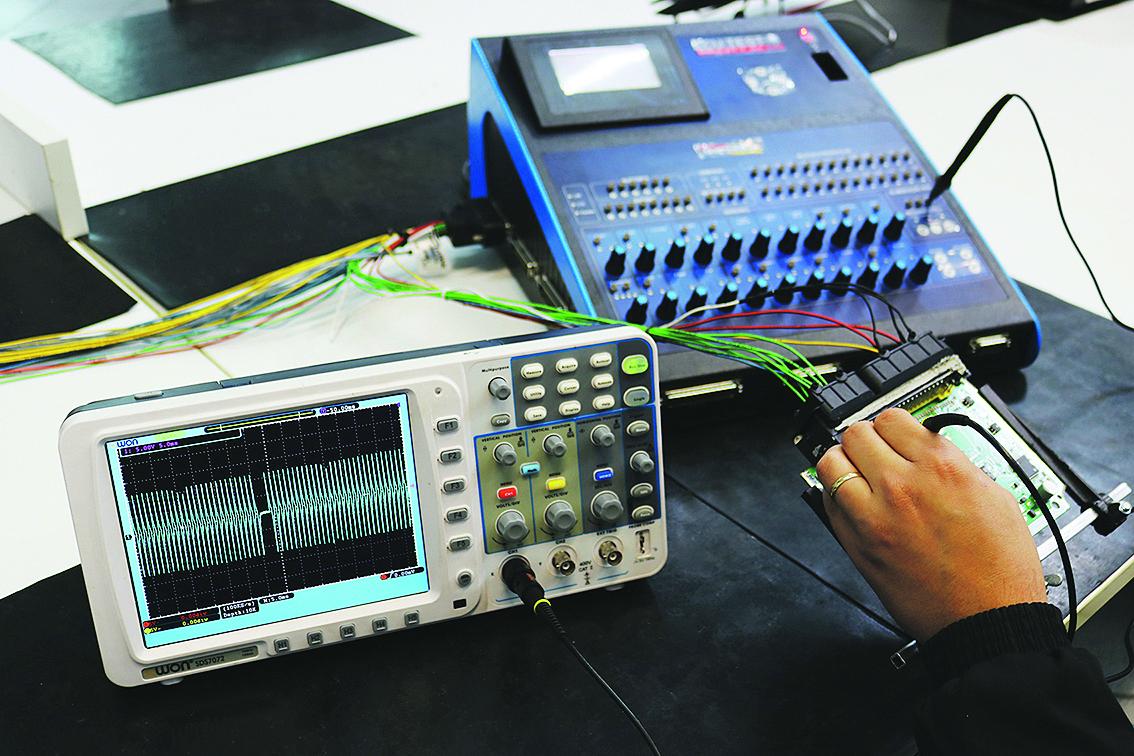 Teste na entrada do sinal de rotação