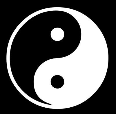 Esse é o símbolo do Yin Yang, o equilíbrio perfeito.<br />Combinando os poderes das turmalinas teremos um talismã com as duas forças equilibradas para agirem em sua proteção.