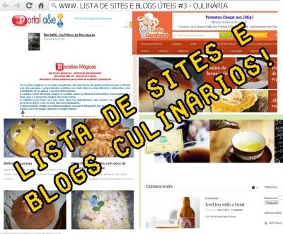 lista de sites e blogs #3 - culinária