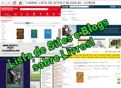 lista de sites e blogs sobre livros