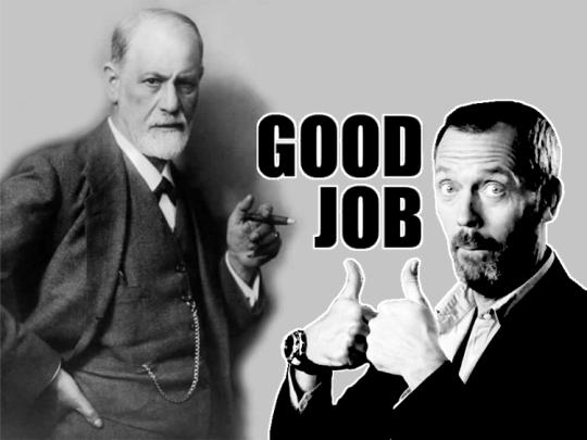 """Freud - """"Bom Trabalho"""", autor desconhecido."""