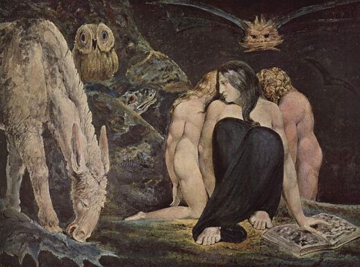 Hekate, por William Blake .