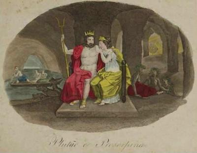 """""""Plutão e Prosérpina"""" de Caetano Lopes de Moura - 1840. Prosérpina é outro nome de Perséfone."""
