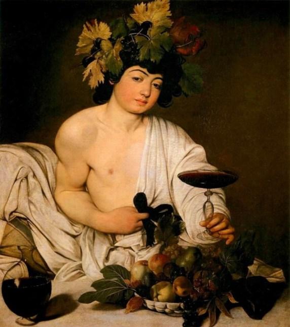 Dionísio (Grécia), também conhecido como Baco (Roma), obra de Caravaggio.